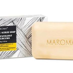 Kurkuma-scrubzeep van Marona. Fairtrade.