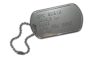 American Soldier Dog Tag