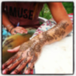 Santa Cruz henna glove. Bridal quaiity.