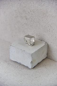 AAD20 Cristals Broken Pared Ring Silver3