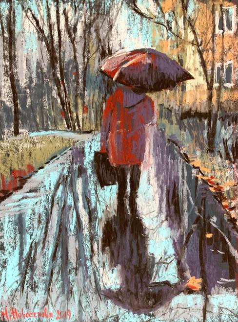 Идущая под дождем