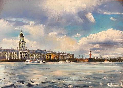 Вид на Васильевский остров