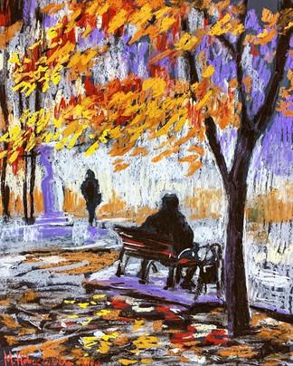 Осень в городе. Парк
