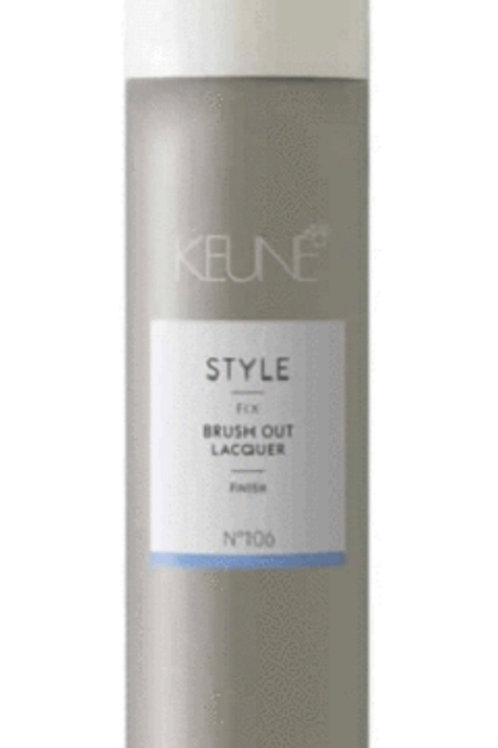 Brush out lacquer hair spray