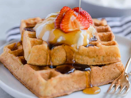 These classic buttermilk waffles are easy to make and come out fluffy and crisp.