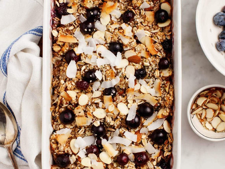 This blueberry baked oatmeal recipe is a delicious healthy breakfast!