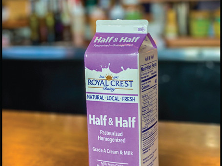 Introducing our new Royal Crest Dairy fresh Half and Half....