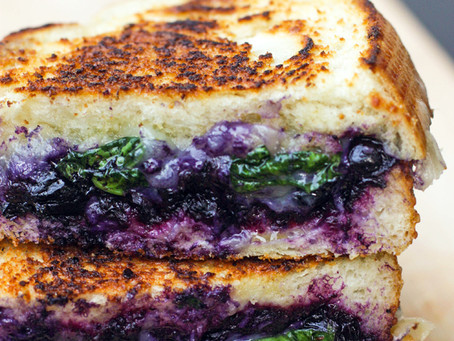 Balsamic Blueberry Grilled Cheese Sandwich, Beautiful And Tasty