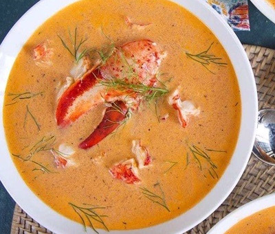 Lobster Bisque – a classic creamy and smooth highly seasoned soup made from lobsters and aromatics..