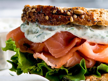 This Smoked Salmon Panini Sandwich With Lemon Dill Mayonnaise Makes a Simple and Elegant Dinner