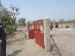 La porte d'accès au jardin