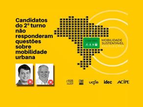 Candidatos a prefeito no 2º turno não participam de entrevista sobre Mobilidade Urbana