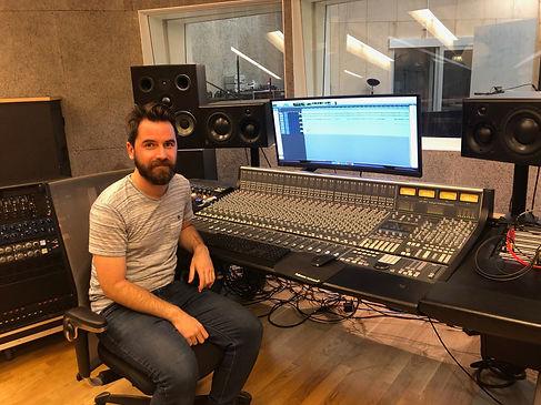 Ellery at the Kysten Studio desk