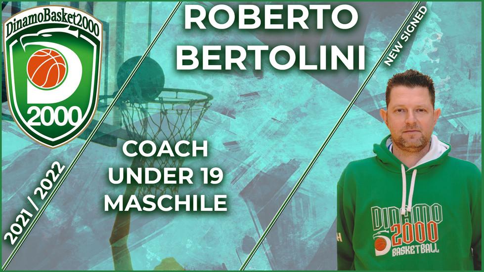 Roberto Bertolini è il nuovo coach Under 19 Maschile