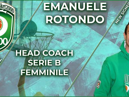 Emanuele Rotondo è l'head coach della neonata squadra di B Femminile