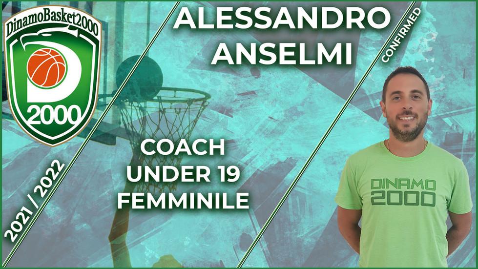 Alessandro Anselmi coach della Under 19 femminile