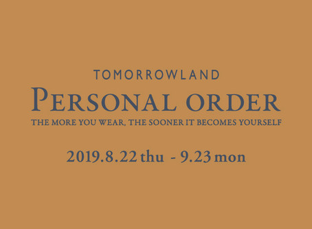 TOMORROWLAND PERSONAL ORDER