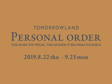 TOMORROWLAND PERSONAL ORDER