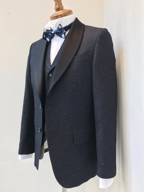 Navy Melange Tuxedo