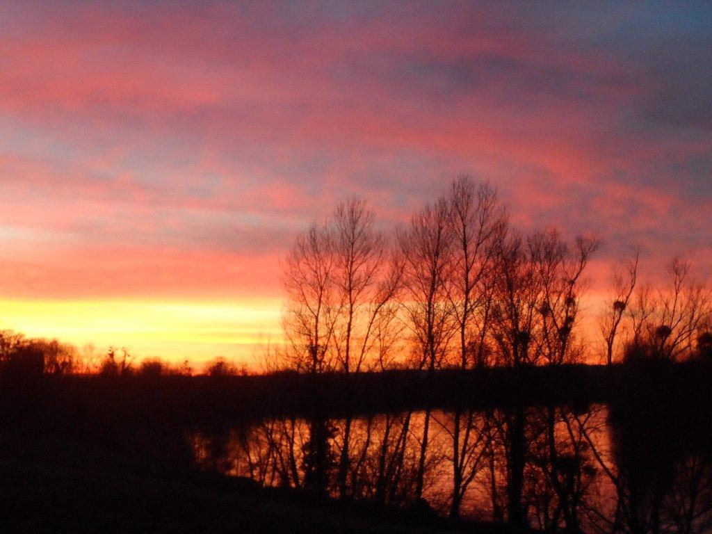 Sunset on the Garonne