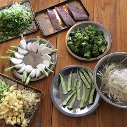 魚のスープに使用するお野菜