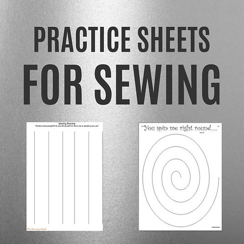 Practice Sheets For Sewing
