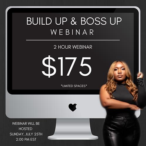 BOSS UP & BUILD UP - Webinar