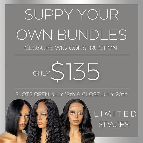 Build Your Own Unit - Lace Closure Construction
