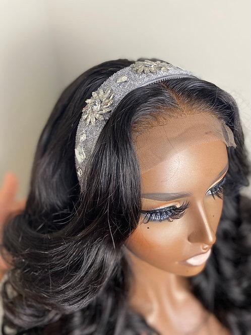 Crystal Headband  - Clear & Silver