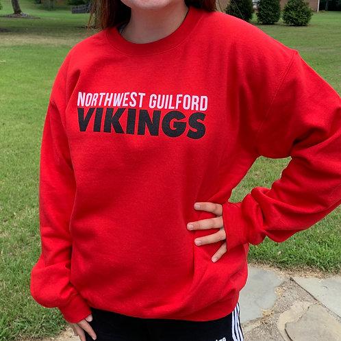 Red Crew Neck Sweatshirt