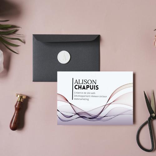 Alison Chappuis crée vos carte de visite