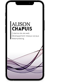 Alison chapuis webmaster freelance dans le golfe de saint tropez develeppement des réseaux sociaux community manager