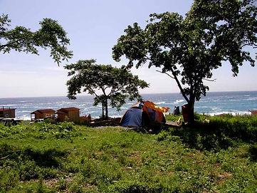 палатка на поляне бухта Орлан