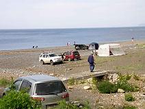палаточный отдых в бухте Орлан