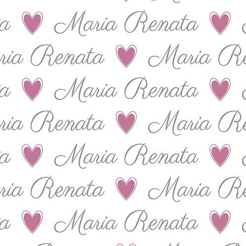 EXPRESS - Manta Plush Bebê - Maria Renata / Coração