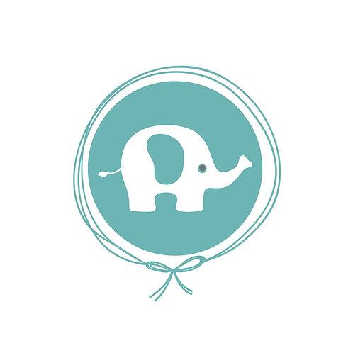 Manta Plush Solteiro - Elefante