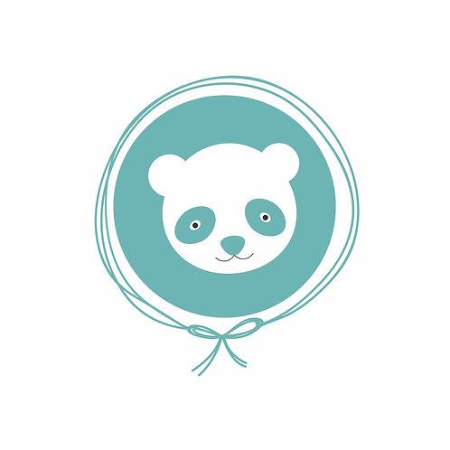 Cueiro em Malha Algodão - Panda