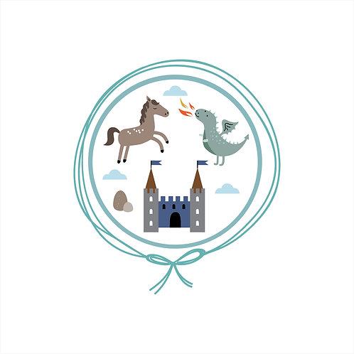 Manta Algodão Jacquard Solteiro - Castelo Azul