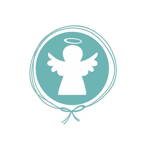 Saída Maternidade Tricot - Anjinho