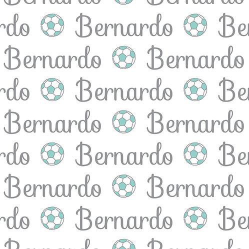 EXPRESS - Manta Plush Bebê - Bernardo / Futebol