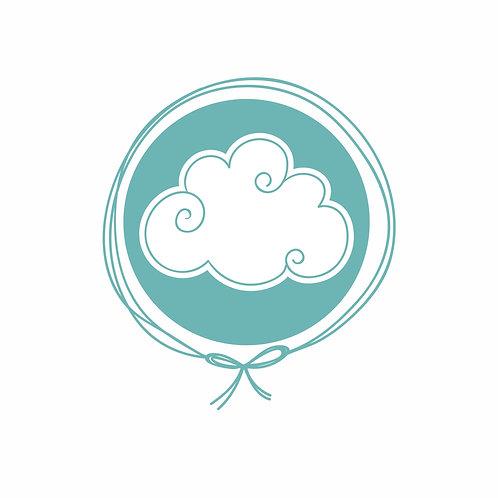 Toalha de Capuz Plush com toalha fralda - Nuvem