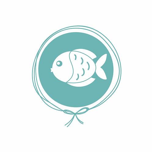 Cueiro em Malha Algodão Jacquard - Peixe