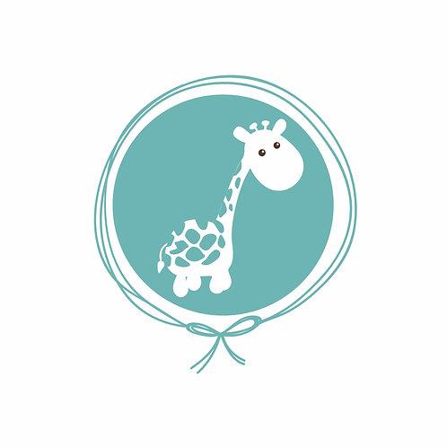 Travesseiro com fronha em Algodão Jacquard - Girafa