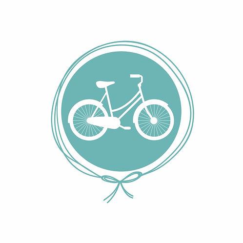 Saída Maternidade Macacão Tricot - Bicicleta