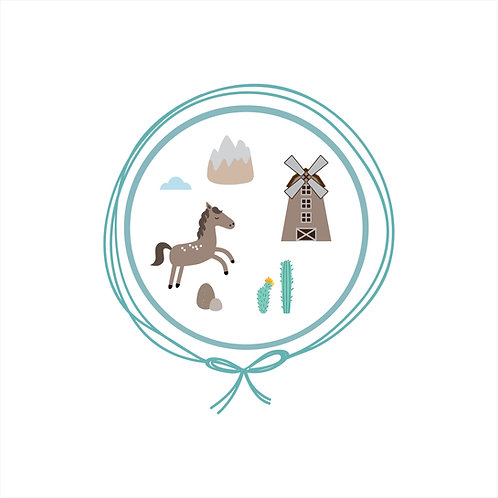 Saída Maternidade Algodão - Velho Oeste