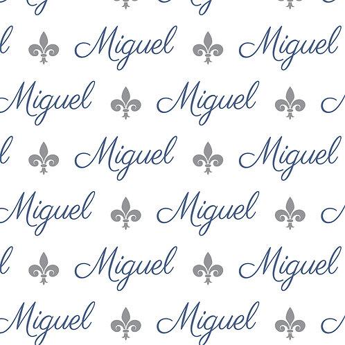 EXPRESS - Toalha Capuz Plush - Miguel / Flor de Lis
