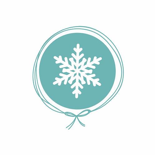Saída Maternidade Tricot - Floco de Neve