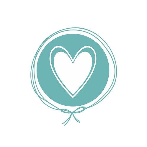 Manta Plush Solteiro - Coração