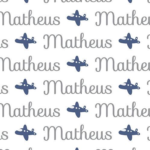 EXPRESS - Manta Plush Berço - Matheus / Avião