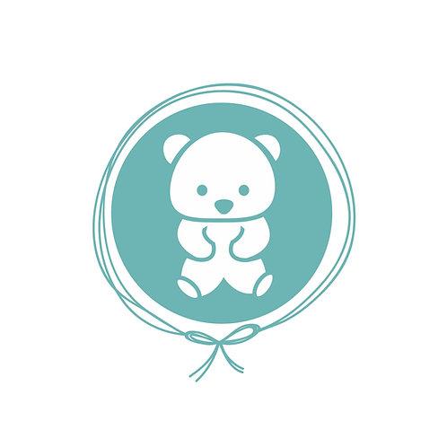 Kit Plush Manta Bebê + Naninha com Ursinho - Urso